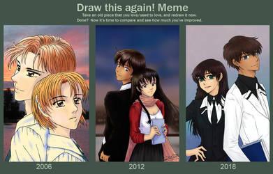 Draw this again! meme with my shuffle days by SuzieSuzy