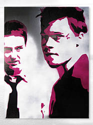 Fight Club by Joe-Wood-Stencil-Art