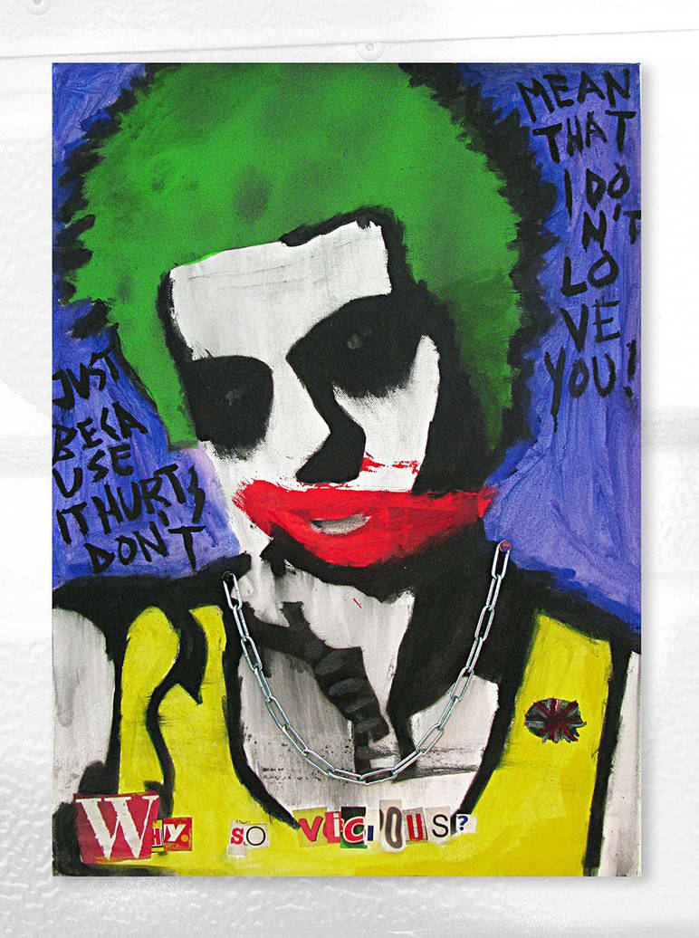 Why so vicious by Joe-Wood-Stencil-Art