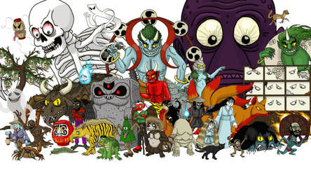 Yokai family picture by DoctorChevlong