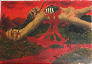 Hell Quest - Beelzebub's Fief (acrylic paint) by DoctorChevlong
