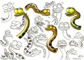 Animal Gang - Conda the Anaconda (concept art) by DoctorChevlong