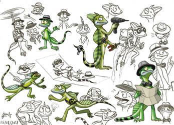 Animal Gang - Basil the Basilisk (concept art) by DoctorChevlong