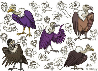 Animal Gang - Charoc the Vulture (concept art) by DoctorChevlong