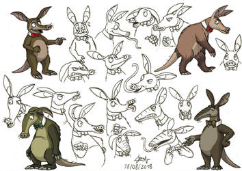 Animal Gang - Hardy the Aardvark (concept art) by DoctorChevlong
