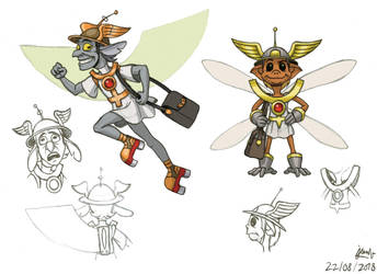 The Planets - Mercury - Merk character concepts 2 by DoctorChevlong