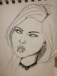 portrait in ink by Deathilya