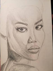 portrait of African woman by Deathilya