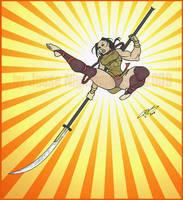 Gina Nackiomi- Kick of Fury by LavenderBlade
