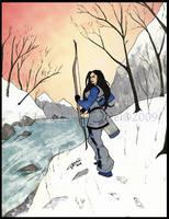 Valerie Fox- winter walk by LavenderBlade