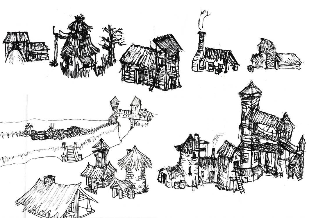 Background Buildings by Skanaerrian