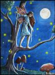 Fairy in the moon light by PammyArt