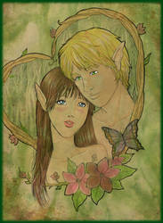 Ilyalisse and Veon by PammyArt