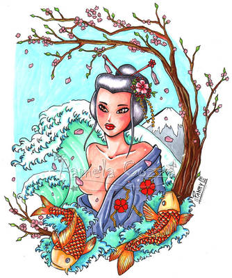 Japanese girl by PammyArt