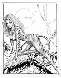 Tigra in a Tree by Bair by MichaelBair