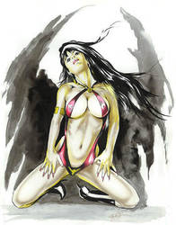 Vampirella_an old commission by MichaelBair