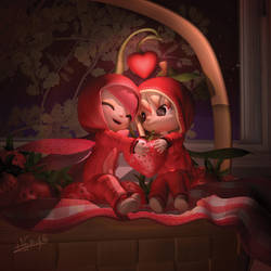 Rojo Chibi love - NAM chibis by LarienSnowpaw