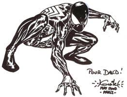 Spider-Man Paris con sketch by SpiderGuile