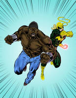 Iron Fist and Power Man by SpiderGuile