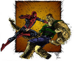 Spidey + Sandman by Petulo by SpiderGuile