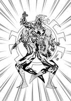 SpiderClones Trinity Soul inks by SpiderGuile