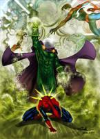 Mysterio vs Spidey - Alxelder by SpiderGuile