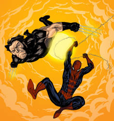 Wolverine and Spidey by Enymy by SpiderGuile
