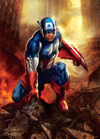 Captain America - BalanteColor by SpiderGuile