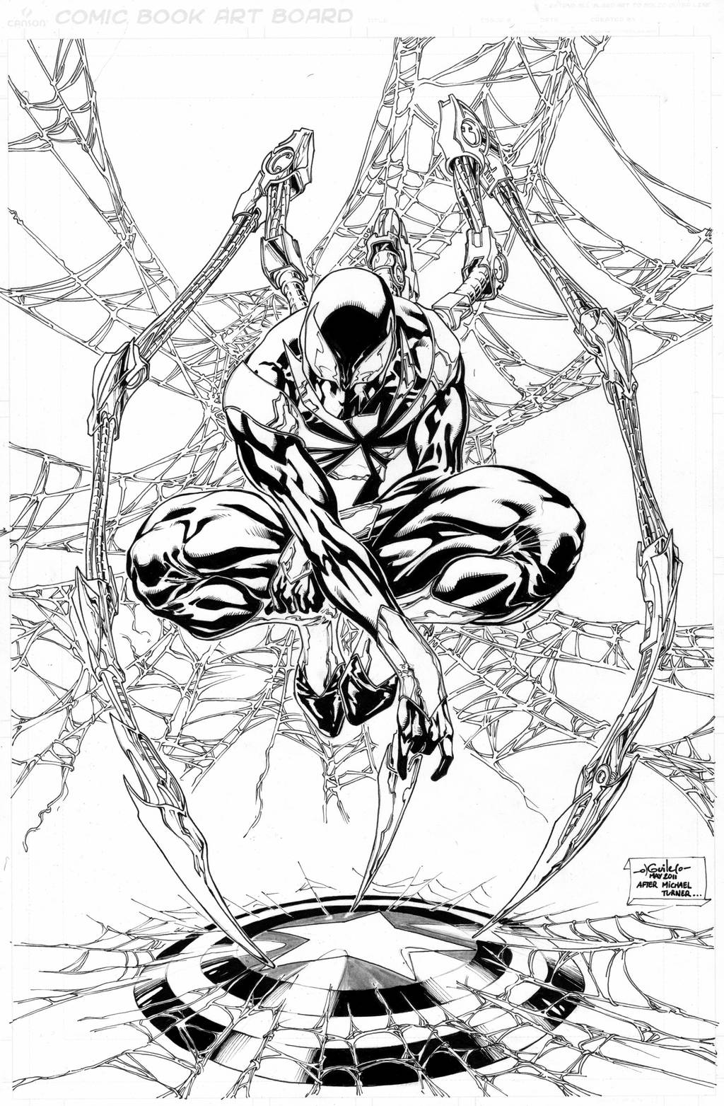 Iron Spider-Man commission by SpiderGuile on DeviantArt