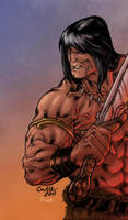 Conan the Cimmerian - Pask color by SpiderGuile