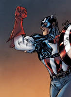 Captain America - Pask colors by SpiderGuile
