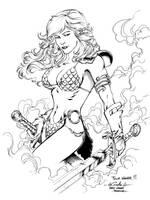 Red Sonja - Paris Manga SciFi Show feb2012 by SpiderGuile