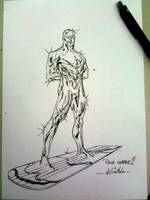 Silver Surfer - Drink'n'Draw Paris by SpiderGuile