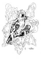 Nightcrawler inks - June2nd2014 by SpiderGuile