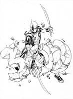 Deadpool slashes the DennisLehman 300 FB likes!!! by SpiderGuile
