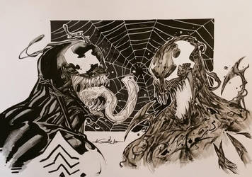 Venom and Carnage - Polymanga 2016 by SpiderGuile