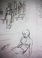 Alone Progress 1 - Close up by zarrarkhan