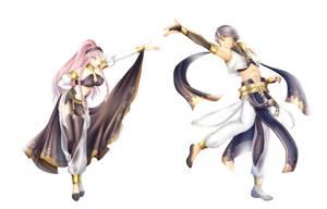 Dancing family by kumaokaa-san