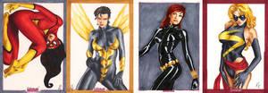Women of Marvel cards 2 by AllisonSohn