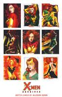 X-Men Archives Sketch Cards 5 by AllisonSohn