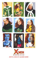 X-Men Archives Sketch Cards 6 by AllisonSohn