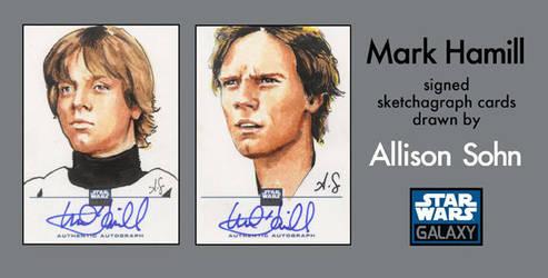 Galaxy 6 cards: Luke Skywalker by AllisonSohn