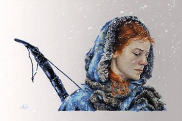 Ygritte in Marker by AllisonSohn