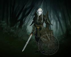 Shadow Elf Warrior by Raro666
