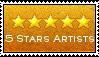 5 stars artists group stamp by Tahog