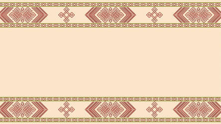 Tablet weave - Nordic knotwork 01 - Beige by RelativelyAncient
