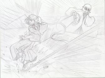 An Unfair Match - Gin vs Rukia by mimiru