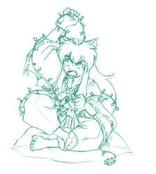 Inuyasha - bah humbug doodle by mimiru