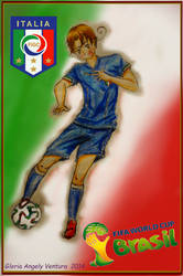 World Cup 2014, Italy-Kun by G-Angely09