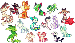 look at all of these chibis by dayne-doe